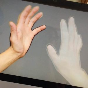 Initial idea for the hand drawing from the PC