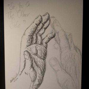 Pen and pencil hand sketch