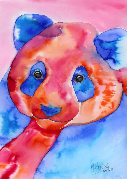 Colour Ink art of a Giant Panda