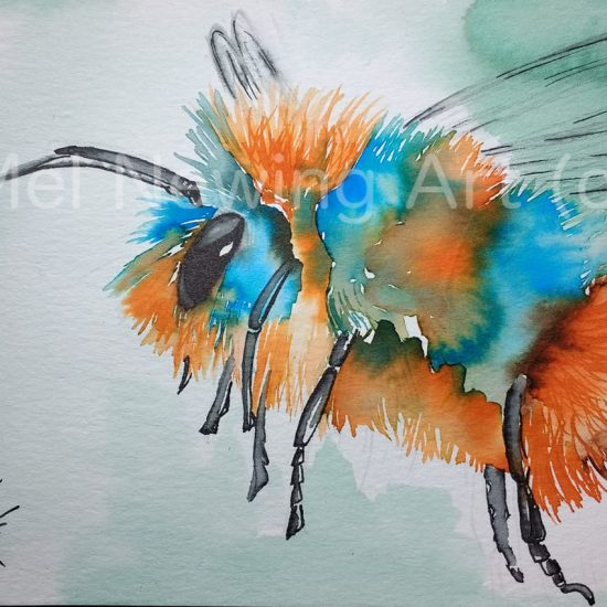 Bee Ink Art