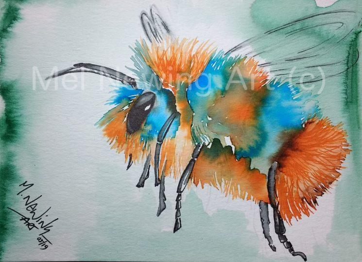 Bee Ink Art